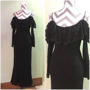 Vintage lace off the Shoulder dress Size XS